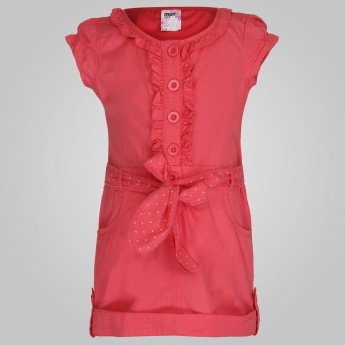 MAX Belt & Ruffle Top