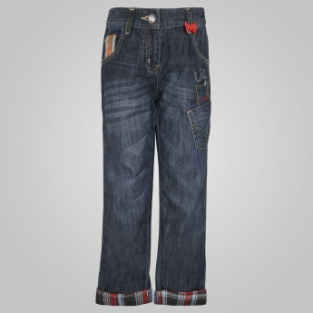 MAX Jeans With Contrast Hem