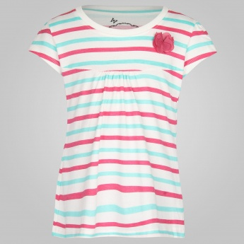 MAX Striped & Flower T-Shirt