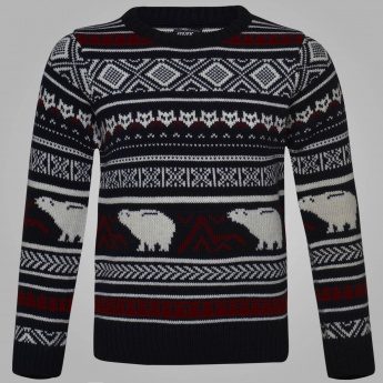 MAX Animal Knitted Full Sleeves Sweater