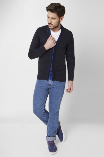 MAX V-Neck Mock Layered Cardigan