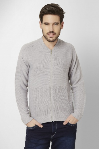 MAX Full Sleeves Front Zip Sweater