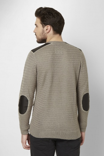 MAX Patch Work Knitted Pattern Sweater