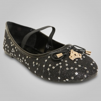 MAX Crowned & Sequined Princess Ballerinas
