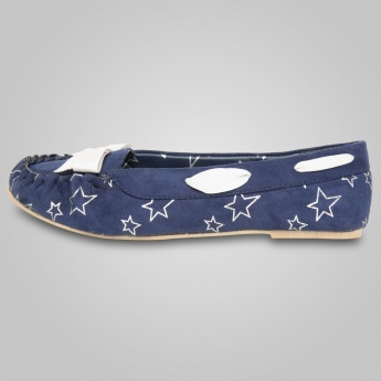 MAX Printed Bow Embellished Moccasins