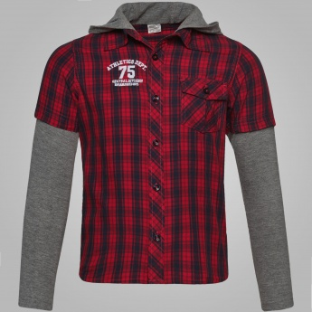 MAX Checked Hooded Shirt