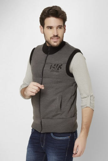 MAX Reversible Quilted Front Zip Sweater