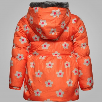 MAX Floral Print Bow Padded Jacket