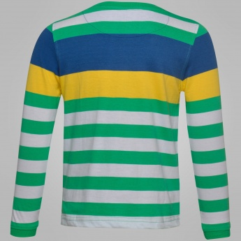 MAX Striped Full Sleeves T-Shirt