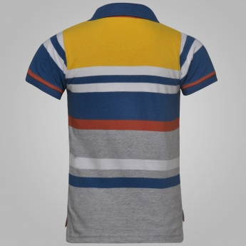 MAX Striped Half Sleeves Polo T-Shirt