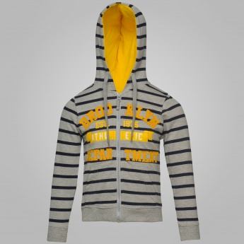 MAX Striped Zip-Up Full Sleeves Sweatshirt
