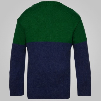 MAX Color Block Full Sleeves Sweater