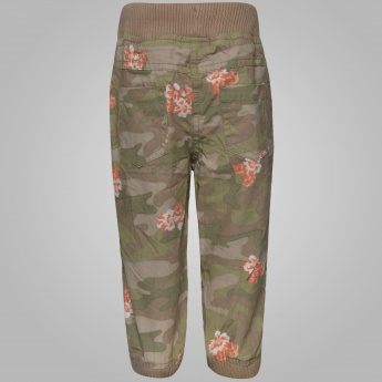 MAX Camouflage & Floral Print Jogger Pants