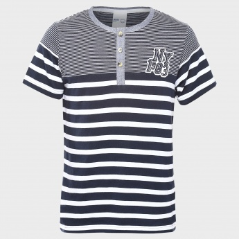 MAX Striped Henley T-Shirt
