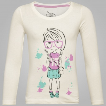 MAX Girls Graphic Printed T-Shirt