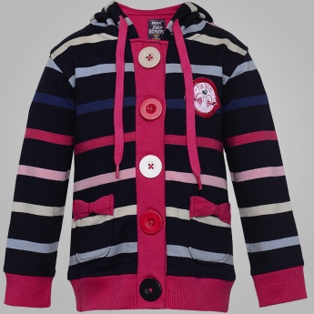 MAX Infant Girls Striped Cardigan