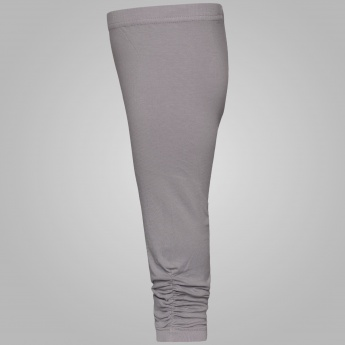 MAX Ruched Ankles Solid Leggings