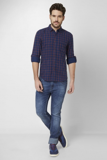 MAX Checked Roll-Up Sleeves Shirt
