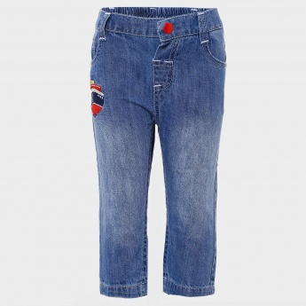 MAX Embroidered Five-Pocket Jeans