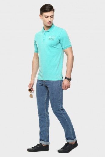 MAX Polo Neck Solid T-Shirt