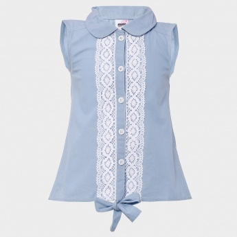 MAX Lacy Trim Tie-Up Shirt