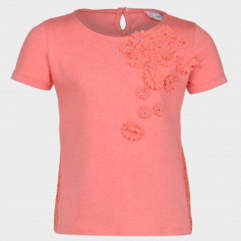 MAX Floral Applique Top