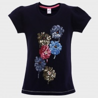 MAX Sequined Floral T-Shirt