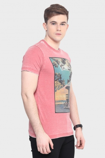 MAX Chest Print Crew Neck T-Shirt