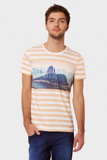 MAX Striped Graphic Print T-Shirt