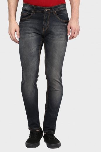 MAX Whiskered Skinny Fit Jeans