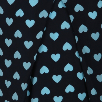 MAX Heart Print Cap Sleeves Blouse