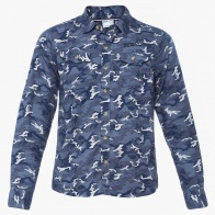 MAX Camouflage Print Chest Pocket Shirt