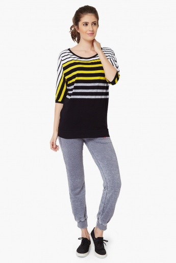 MAX Striped Round Neck Tee