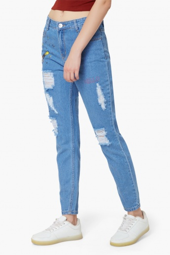 MAX Distressed Doodle Jeans