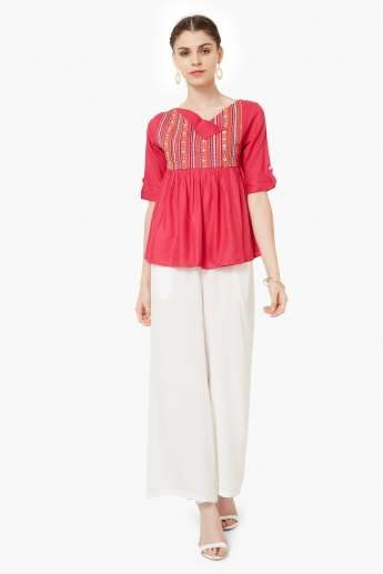 MAX Embroidered Ethnic Top