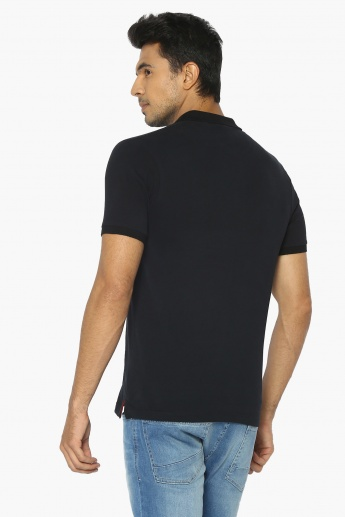 MAX Flag Patch Polo Neck T-Shirt