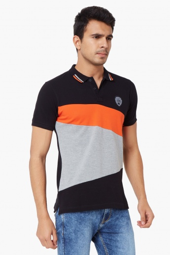 MAX Contrast Ange Polo Neck T-Shirt