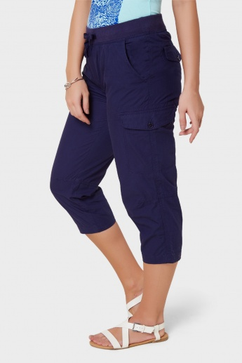 MAX Elasticated Waist Pocketed Capris