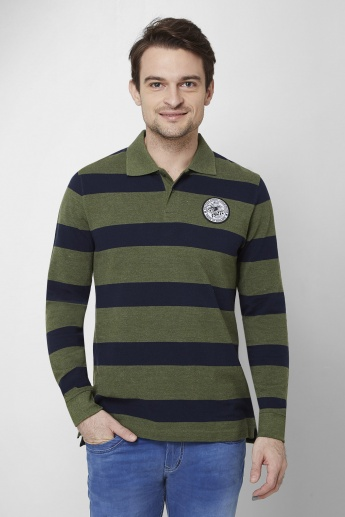 MAX Striped Knitted Polo T-Shirt