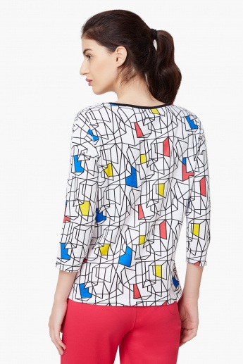 Max Geometric Mosaic Round Neck Top