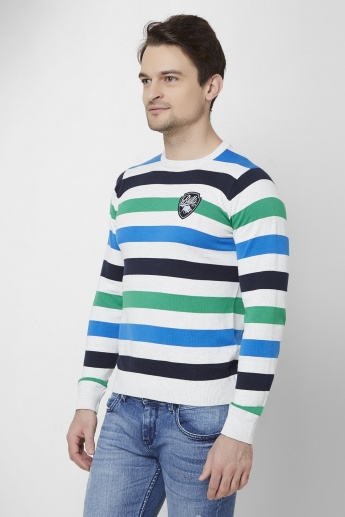 MAX Striped Crew Neck Pullover