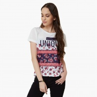 MAX Floral Fling Round Neck T-Shirt