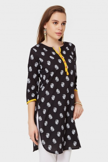 MAX Printed 3/4th Sleeves Kurti