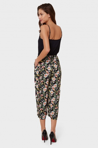 MAX Floral Print Strappy Jumpsuit
