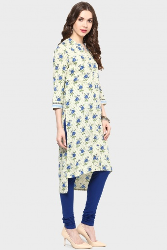 MAX Printed Band Collar Shirt Kurta
