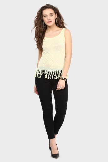 MAX Burnout Top with Tassels