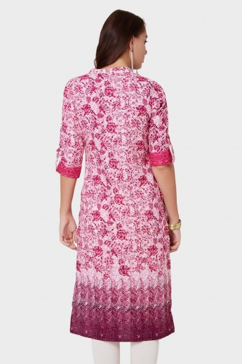 MAX Printed High Low Kurti