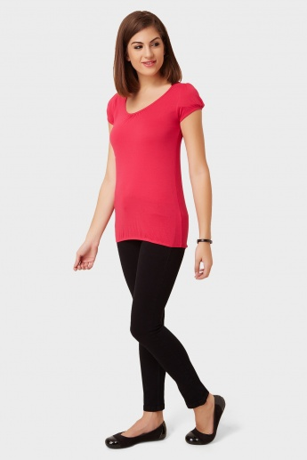 MAX Lacy Shoulder Top
