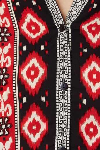 MAX Tribal Print Roll-Up Sleeves Kurta