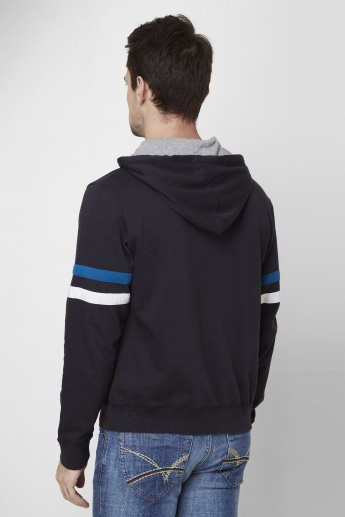 MAX Embossed Front Zip Hooded Sweatshirt